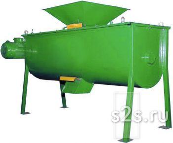 Смеситель одновальный горизонтальный лопастной для сухих и влажных продуктов СГО-1,5