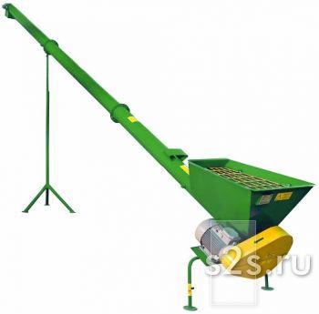Конвейер (шнек) спиральный (шнековый) для сыпучих продуктов (зерна) КШ-300/1-4