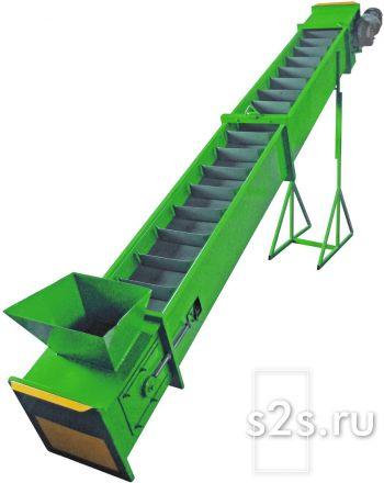 Конвейер ленточно-скребковый для сыпучих продуктов (зерна, комбикорма) КЛС-300-6