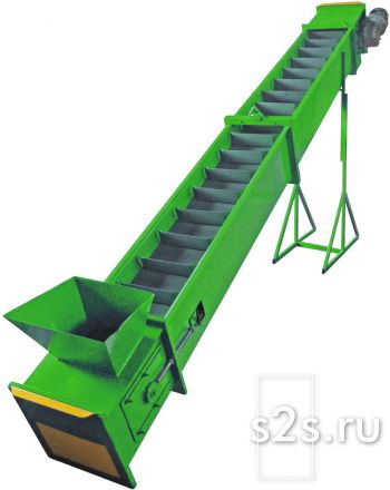 Конвейер ленточный скребковый ленточный для сыпучих материалов КЛС-300-10