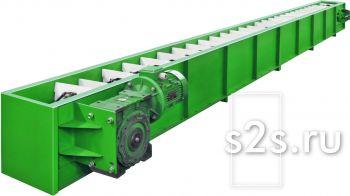 Конвейер скребковый цепной КЦС-300-10