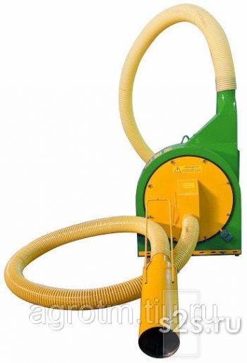 Дробилка для зерна молотковая пневматическая ДВР-37Д