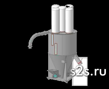 Смеситель вертикальный шнековый СВ-2,3Ш