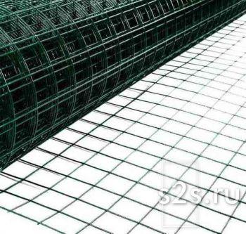 Сетка сварная ПВХ Волна 50х50 L25 м